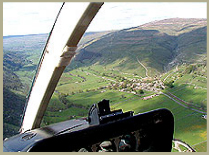 A lovely aerial view from a helicopter over Wharfedale