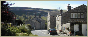 A typical view along Cam Lane in Kettlewell Village